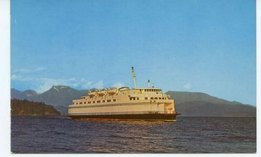Postcard of the Sechelt Queen ferry #4631